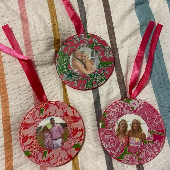 Lilly Pulitzer Picture Frame Ornaments
